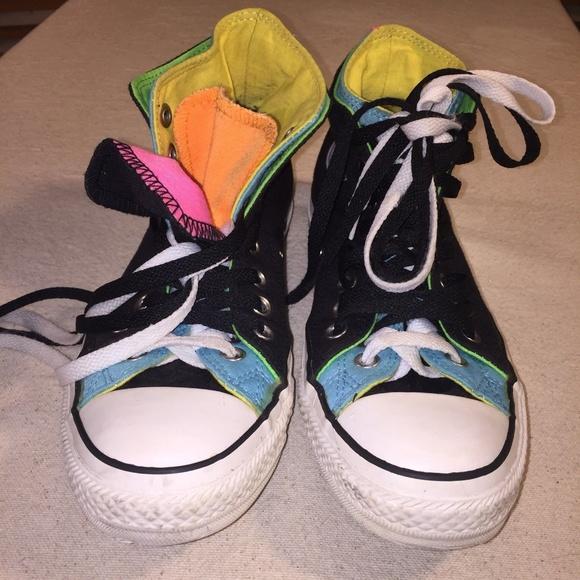Converse Shoes - Converse Neon Women 9 Men 7 Double Layer Tongue 458a28a67